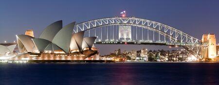 jorn: SYDNEY - FEBRUARY 6, 2013: The Sydney Opera House with Harbor bridge in Sydney, Australia on February 6, 2013. Designed by Danish architect Jorn Utzon; this year is celebrating the 40th opening anniversary