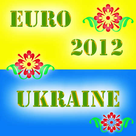 Colour drawing for euro 2012  Stock Photo - 13623975