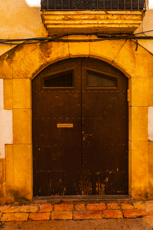 Old gate with interesting texture, element of architecture, interesting entrance to the building, vintage style, gate