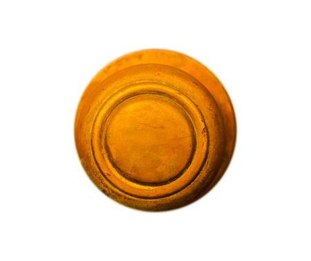 isolated round door handle with decorative elements, door decoration, vintage Stock Photo
