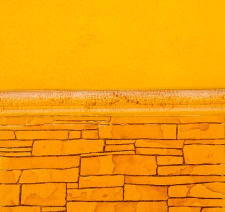 Traditional ornamental Spanish decorative tiles, original ceramic tiles on the walls of buildings, decoration