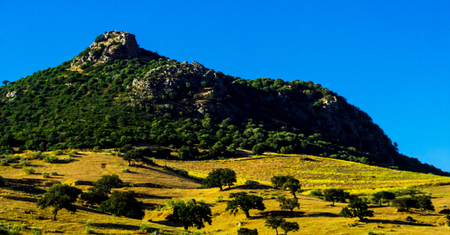 mountain peaks in the Andalusian region, typical mountain landscape, wild nature