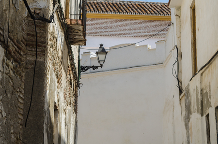 VELEZ-MALAGA, SPAIN - AUGUST 24, 2018 Empty streets during a siesta in a Spanish city, characteristic architecture in the south of Spain Sajtókép