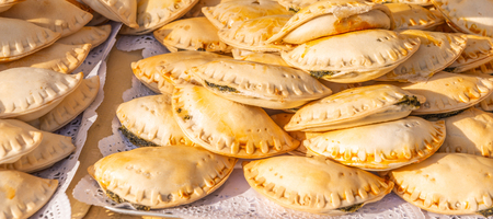 Fried empanadas typical of the Argentine countryside gastronomy, tasty food 写真素材