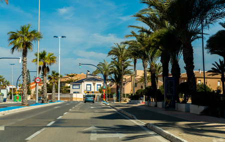 LA MANGA, SPAIN, MARCH 4, 2019 Avenida Gran Vía de la Manga from Cabo de Palos to the Punta del Mojón.