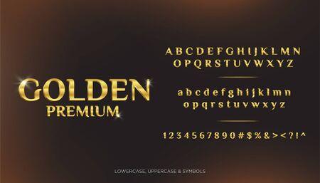 Golden Premium Text Alphabets 3D Standard-Bild - 128221376