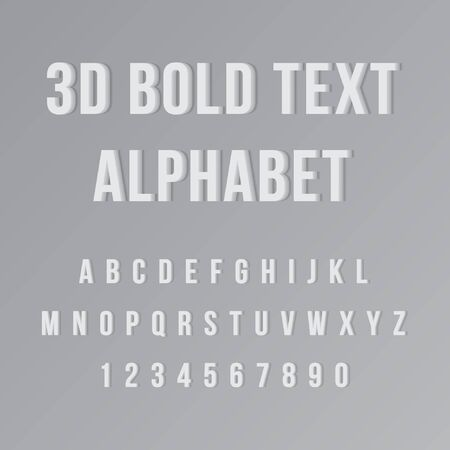 Alphabetical 3D Bold Text