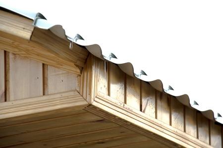 Beautiful alcove, wooden arbor, bower, summer house, garden house.