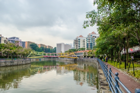 Singapore River at Robertson Quay Stock Photo - 20711550