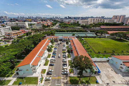new car lots: Aerial View of Housing Estate in Singapore