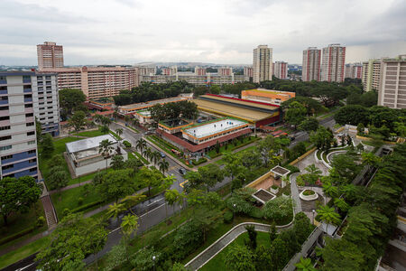 new car lots: Aerial View of Ang Mo Kio Estate in Singapore