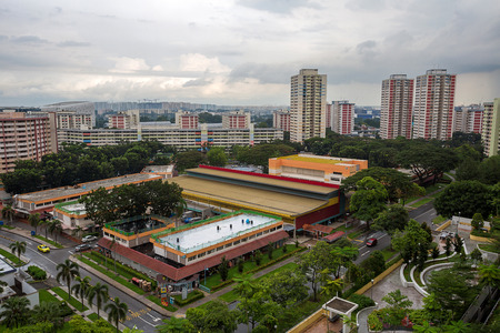 Aerial View of Ang Mo Kio Estate in Singapore Banco de Imagens - 34893490