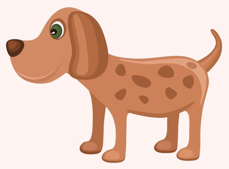 Illustration of isolated cute dog
