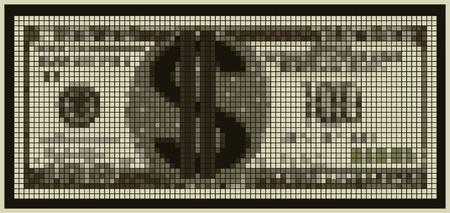 달러 기호 비현실적인 통화의 그림