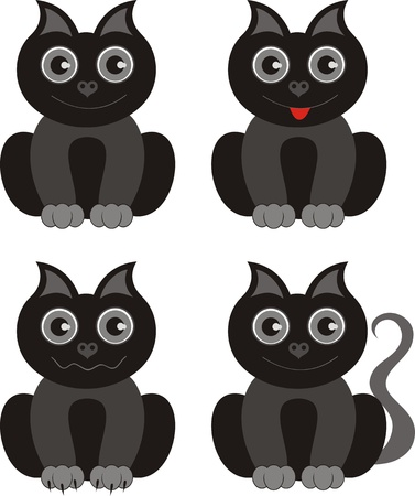 Cute black kitten Stock Vector - 12497273