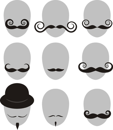 콧수염과 턱수염 세트