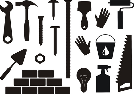 Repair and building  vector set