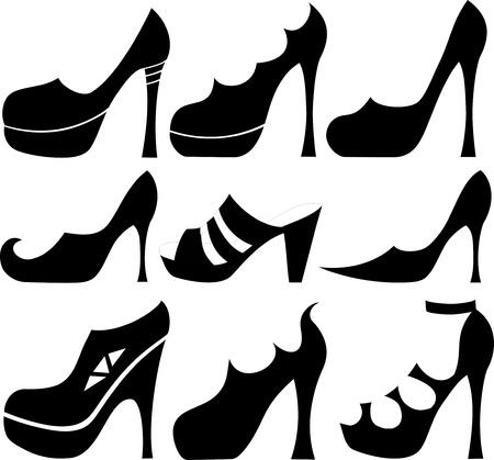 high detail: Shoes vector set