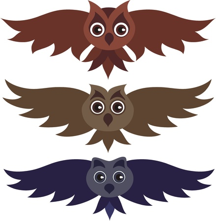 Three vector owls