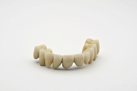prothetic: Dental prosthesis on white background Stock Photo
