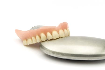 prothesis: Dental removable prosthesis  with metal Object