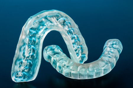human mouth: Dental splint to prevent bruxism