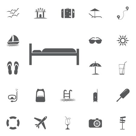 twin bed: Hotel Room, Bed Icon