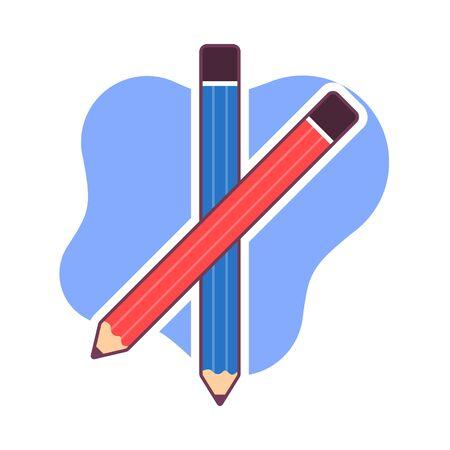 pencil icon vector illustration. school instrument, creativity, idea, education and design symbol.