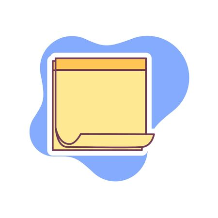 note paper icon vector illustration