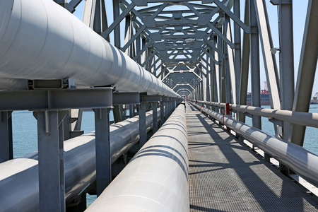 gas distribution: For the transport of oil and gas pipelines