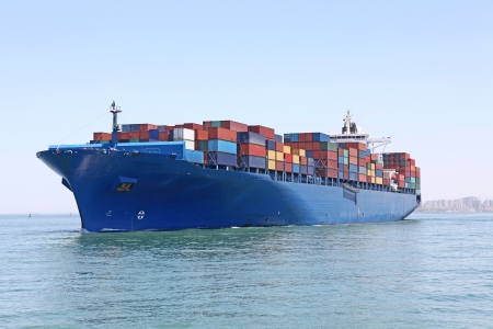 container ship: Container ship Stock Photo