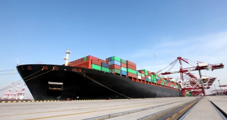 hull: China Qingdao Port Container Terminal,The world
