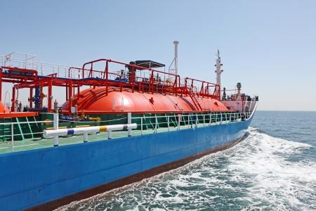 propane gas: Gas Ship Stock Photo