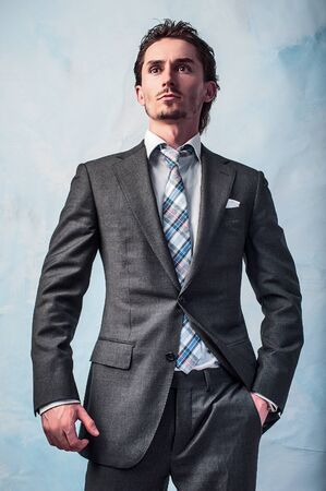 young handsome guy in  stylish suit   photo Stock Photo - 15542560