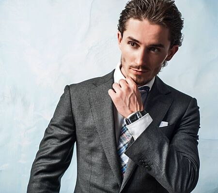 young handsome guy in  stylish suit   photo Stock Photo - 15537948