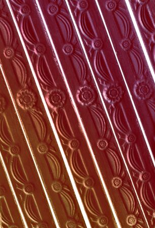 crimson: brown and crimson tint striped , patterned design decor Stock Photo