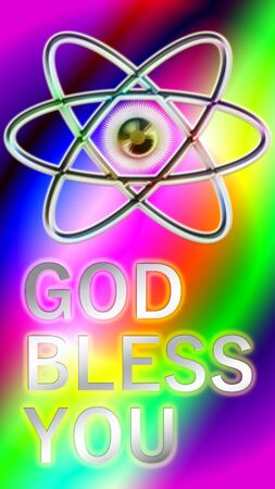God bless you. Background image with beautiful gradation. Banco de Imagens