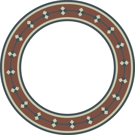 Simple fashionable classical circular pattern