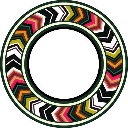 Colorful traditional circular ring