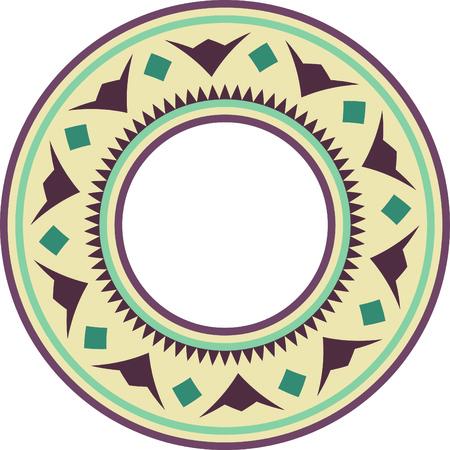 Classical circular sun bohemian pattern Ilustrace