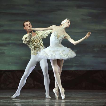 ballet cl�sico: ballet real ruso realizar ballet del lago de los cisnes