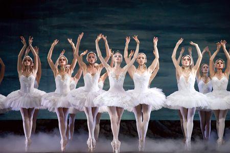ballet ni�as: ballet real ruso realizar ballet del lago de los cisnes