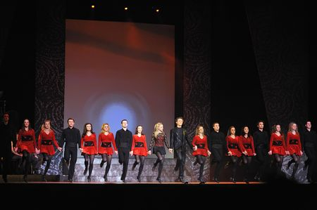tap dance: Folk dance show Riverdance from ireland