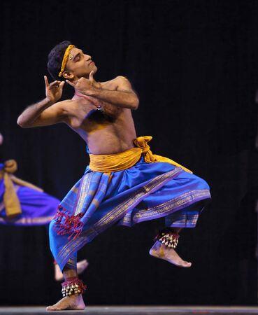 CHENGDU - OCT 24: Indian folk dance  Stock Photo - 8161116