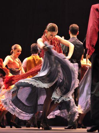 bailando flamenco: CHENGDU - 28 de DEC: El mejor Drama de Baile Flamenco  Editorial