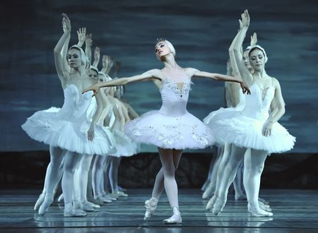 CHENGDU - DECEMBER 24: Russian royal ballet perform Swan Lake ballet at Jinsha theater December 24, 2008 in Chengdu, China. Stock Photo - 8161128