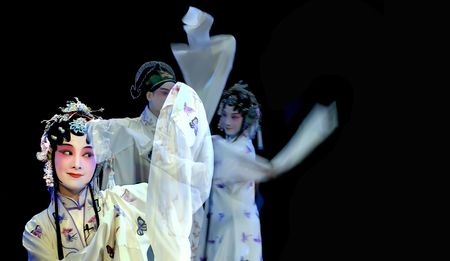 CHENGDU - MAY 23: Suzhou Kunqu Opera Theater of china perform The Peony Pavilion at Golden theater May 23, 2007 in Chengdu, China. The leading role is the famous opera actress Shen Fengying. Stock Photo - 8161126