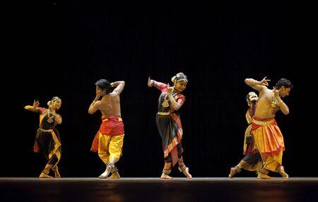 CHENGDU - OCT 24: Indian folk dance  Stock Photo - 8161172