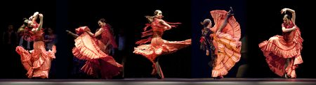 tap dance: CHENGDU - DEC 28: The Ballet Troupe of Spanish Rafael Aguilar(Ballet Teatro Espanol de Rafael Aguilar) perform the best Flamenco Dance Drama