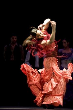 gitana: CHENGDU - 28 de DEC: Flamenco Dance Drama  Editorial